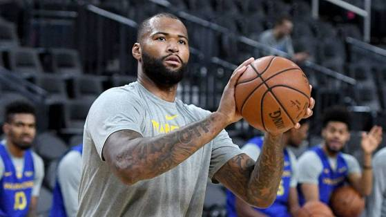 DeMarcus Cousins Golden State Warmups